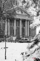 Palatul Cultural din Arad, in alb-negru