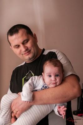 Teo in brate la tata, fotografie bebe, Arad