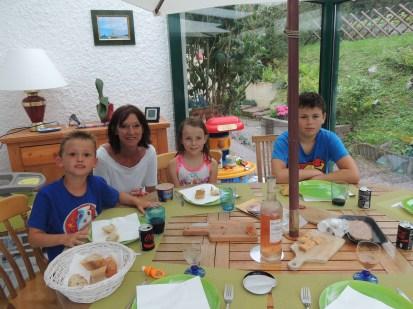 Pablo, Mamy, Lilou et Noam