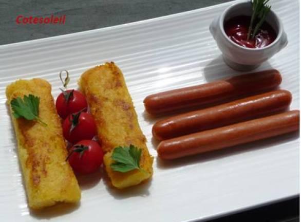 Croquettes de polenta & knacks