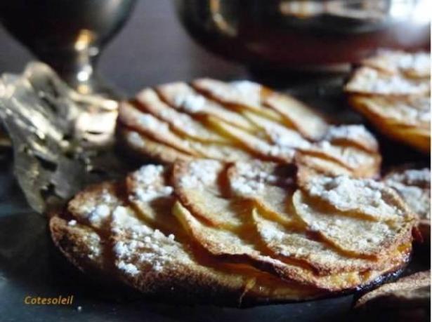 tartes-fines-pommes & marmelade d'abricot