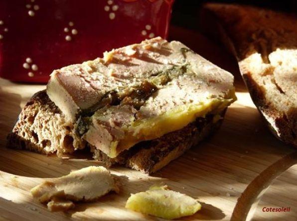 Foie gras aux aubergines