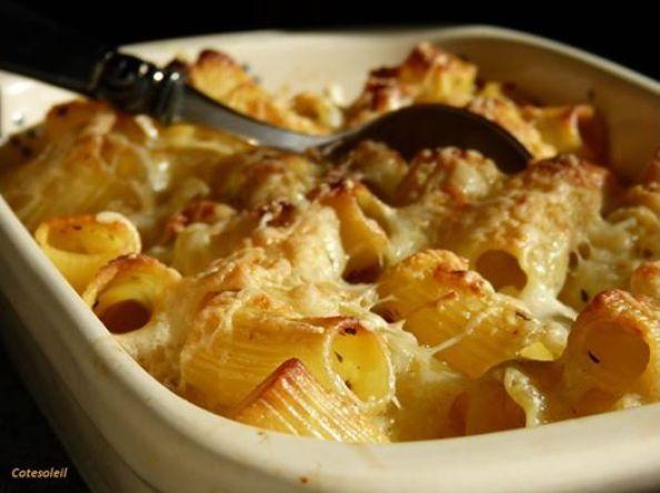 Rigatoni au fromage & jambon