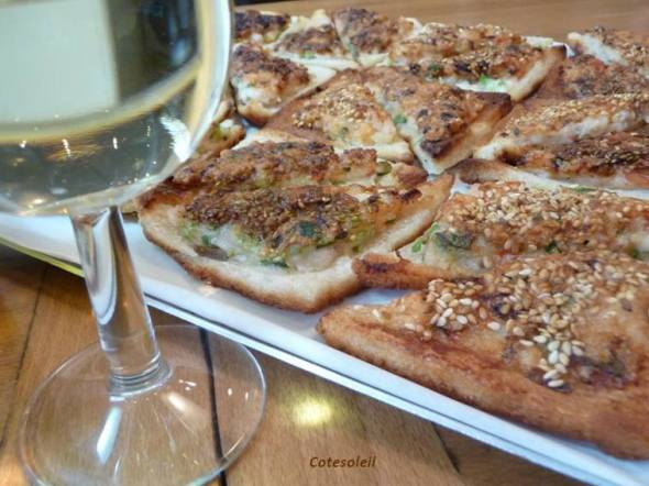 Toasts frits aux crevettes