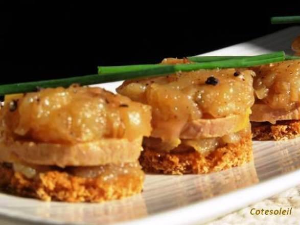 Mini Tatins De Foie Gras Aux Pommes Côté Soleils