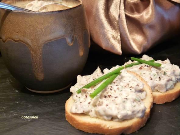 rillette-de-champignons à la truffe