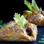 Paquet surprise à l'aubergine pimentée & pignons