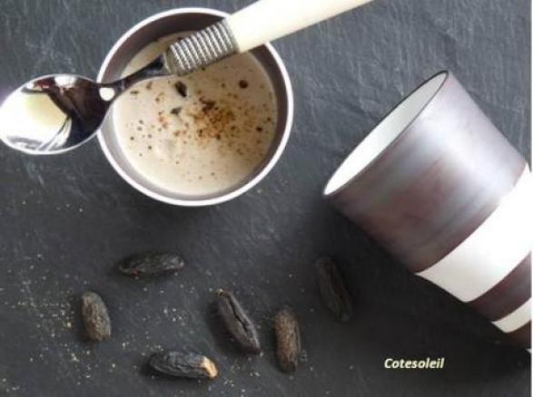 Cappuccino de shiitakes parfume feve tonka