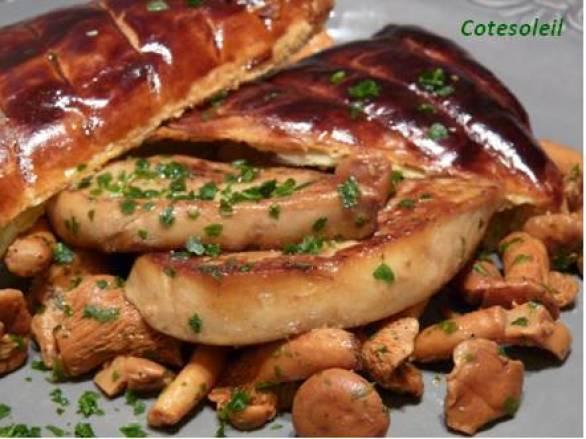 Foie gras poelé en croute