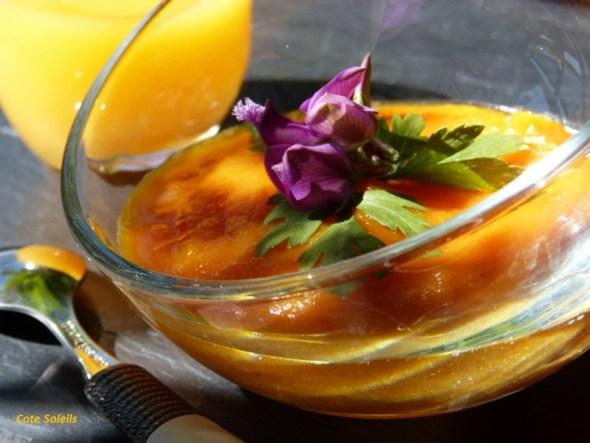 Soupe glacée carottes jus orange