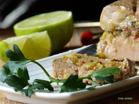 Terrine de foie gras à la créole