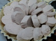 Tarte fine au confit d'oignons maison & boudin blanc