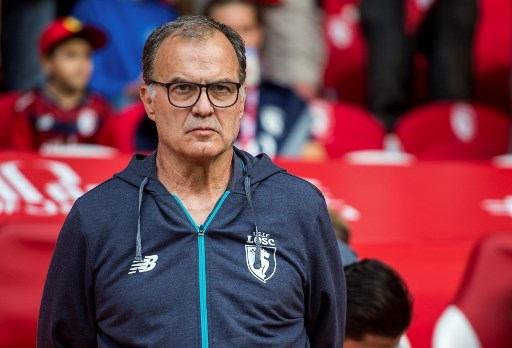 Lille's Argentinian head coach Marcelo Bielsa looks on during the French Ligue 1 football match between Lille and Nantes on August 6, 2017 at Pierre Mauroy Stadium, in Villeneuve d'Ascq, northern france.