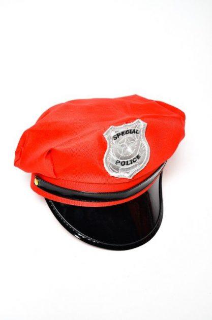 Gorro Policia Rojo