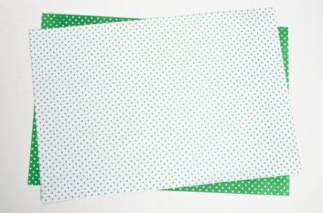 Cartulina Bifaz Decorada Lunares blanca y verde