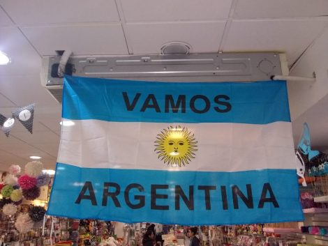 "Bandera de ""Vamos Argentina"""