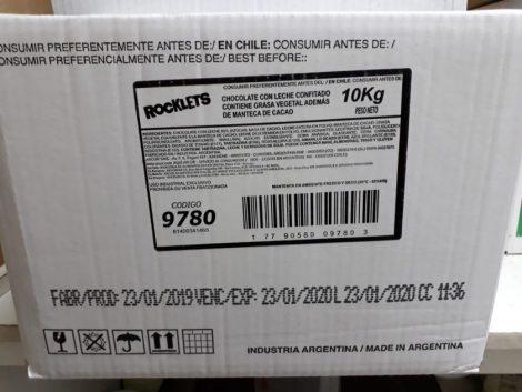 """Caja de lentejas grandes de chcolate """"Aguila Pops"""" (x10kg)"""
