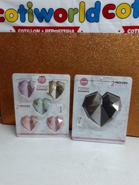 Molde de corazones diamantes (placas x2)