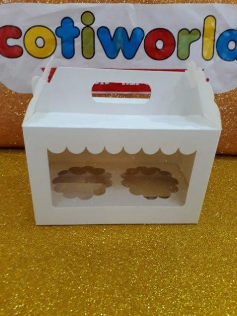 Caja para muffins x2 unidades