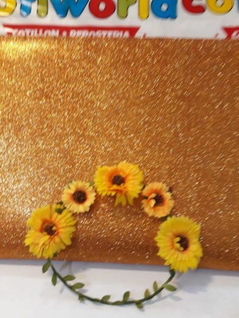 Corona con flores