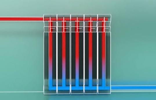 распределение теплоты внутри батареи
