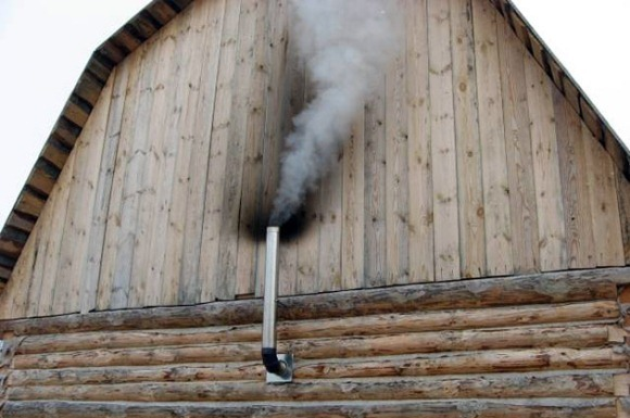недопустимая установка дымохода