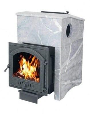 стальная печь с прямоугольной каменкой