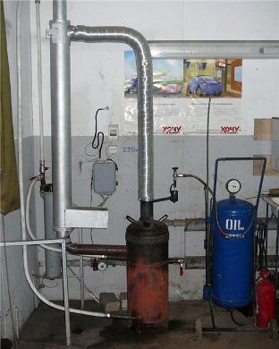 печь-капельница, работающая на жидком топливе