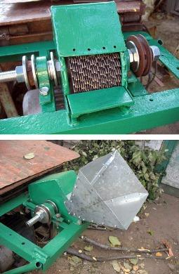 бытовой агрегат для измельчения древесны