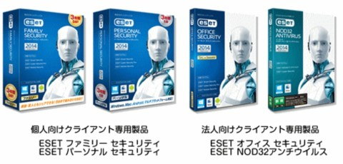 ESETセキュリティ ソフトウェア シリーズ