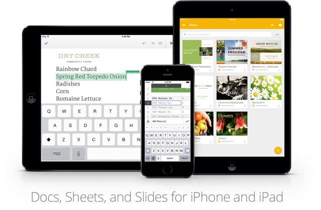 Google Docs / Sheets / Slides for iOS