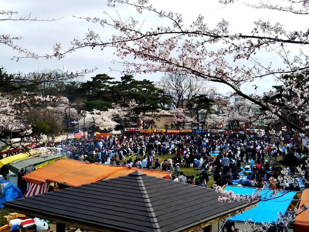 千秋公園桜まつり屋台
