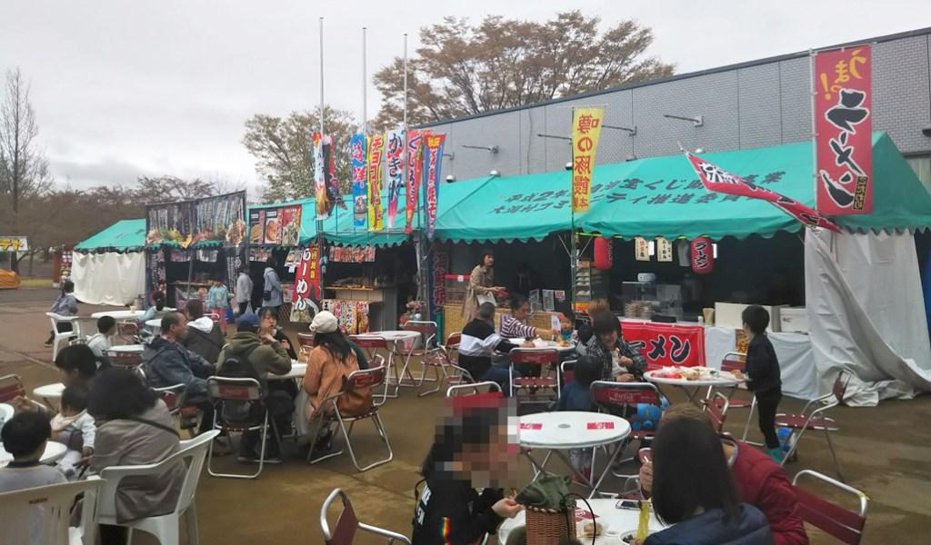 大潟村桜と菜の花まつり屋台