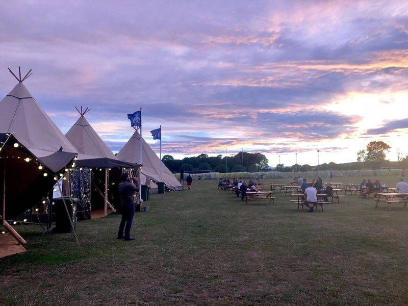 Giant Tipis at The Open Camping Village Carnoustie 2018
