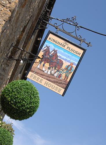 The Kingham Plough Exterior Sign