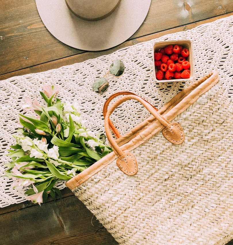 straw bags under $100