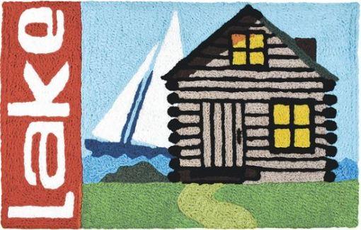 jellybean rug lake cabin design