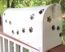 cat dog pet paw prints mailbox