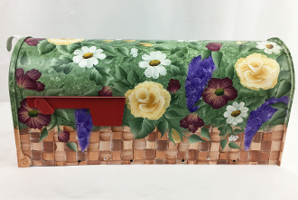 basket of blooms mailbox