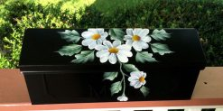 hand painted daisy wall mount mailbox