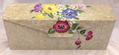 hand painted pansy wall mount mailbox