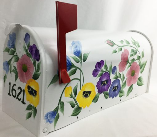 hand painted mailbox decorative floral