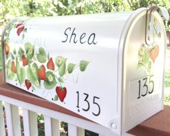strawberries painted mailbox