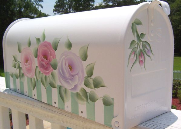 Hand Painted Mailboxes, Post Mounts