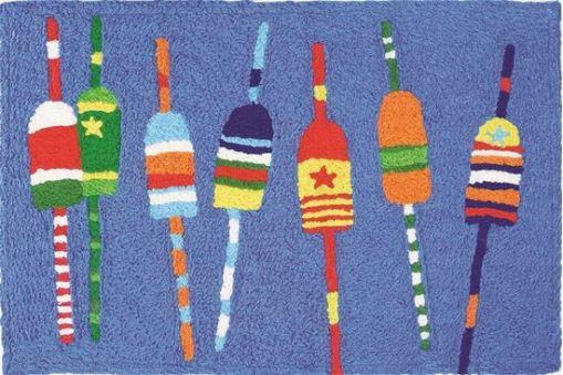 jellybean rug colorful buoys