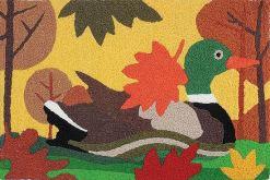 jellybean rug mallard duck design