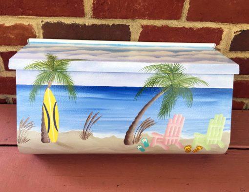 hand painted mailbox nautical beach