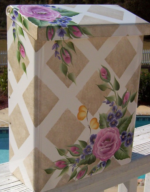 pink rose trellis wall mount 3