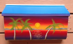 hand painted mailbox nautical sunset