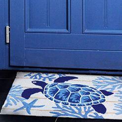 jellybean rug indigo sea turtle